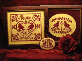 Love is the Key - Cross Stitch Pattern by ScissorTail Designs