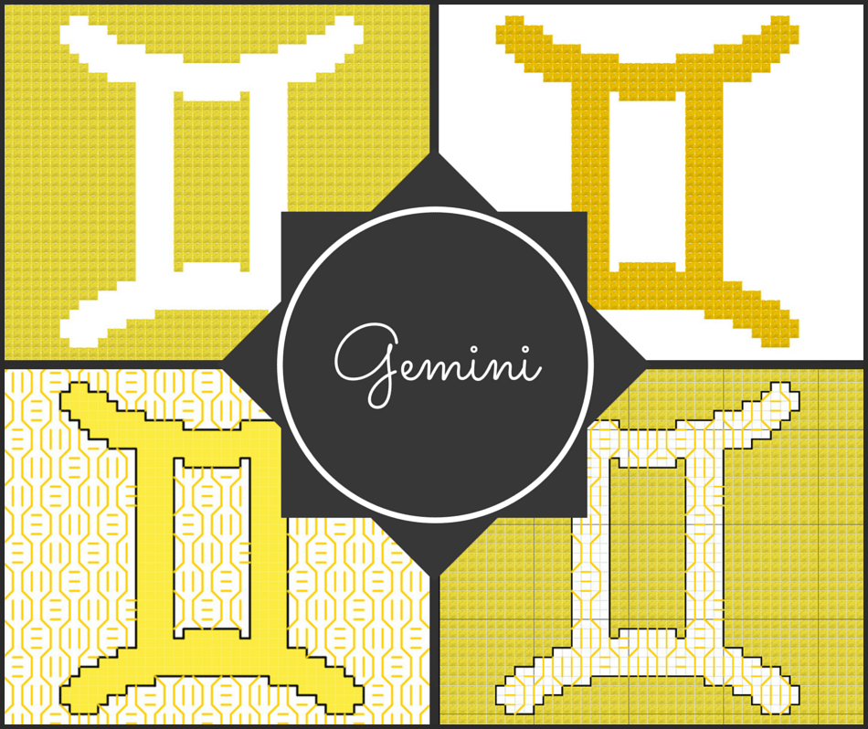 Gemini Zodiac Blocks