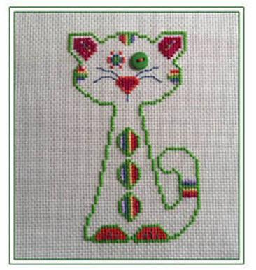 rainbow whiskerkins cross stitch pattern from CM Designs