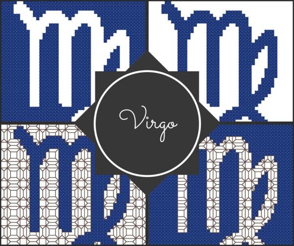 Virgo Zodiac Cross Stitch and Blackwork Patterns