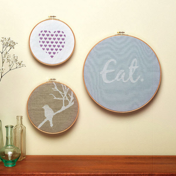 design examples from cross stitch to calm patterns