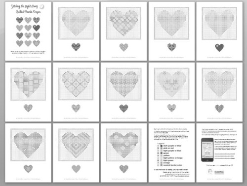 each heart is printable individually