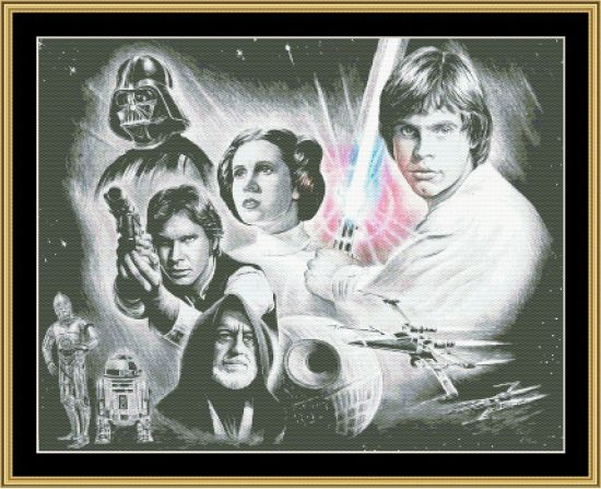 Star Wars Poster reproduction cross stitch pattern