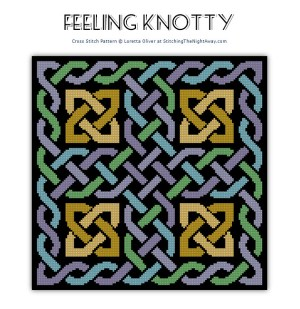 Feeling Knotty knotwork cross stitch pattern preview