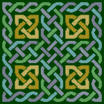 Feeling Knotty Celtic Knotwork Pattern with green background