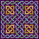 Feeling Knotty Celtic Knotwork Pattern with purple background