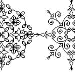 Brodeuse Bressane Mini Mandala per Month Blackwork SAL