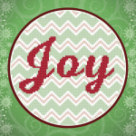 Joy Chevron In-the-Hoop Cross Stitch Pattern
