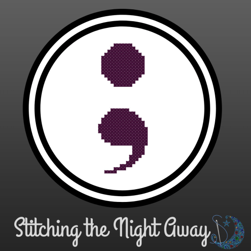 simple semicolon free cross stitch pattern (preview)