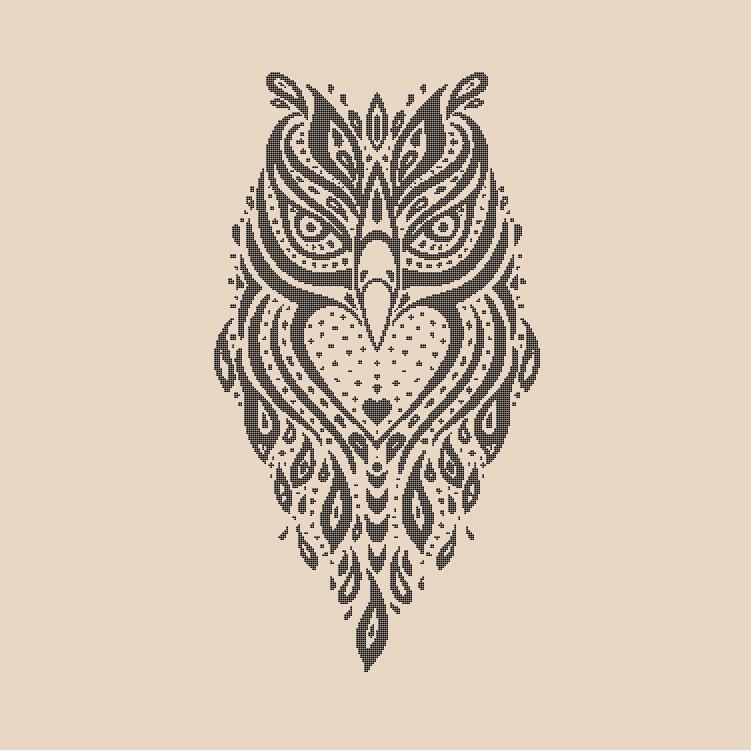 Spirit Owl Cross Stitch Pattern Preview