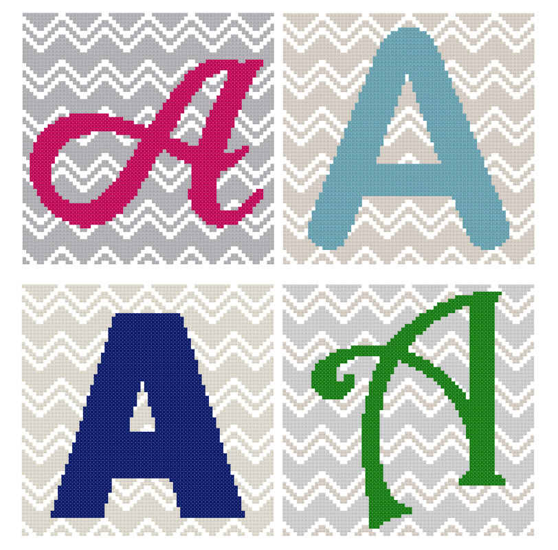 Chevron Monogram Pattern Set A