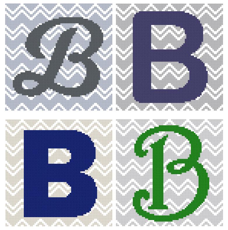 Chevron Monogram Pattern Set B