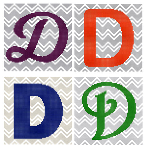 Chevron Monogram Pattern Set D