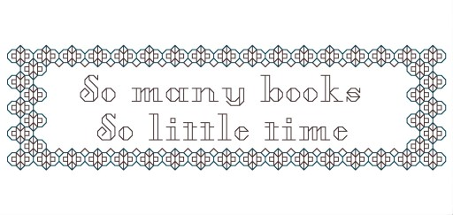 So Many Books So Little Time Blackwork Bookmark Pattern