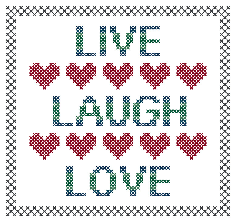 Simple Live Laugh Love Pattern