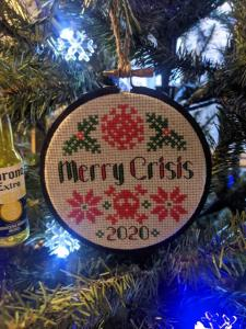 Merry Crisis Ornament from LaHooplaCo