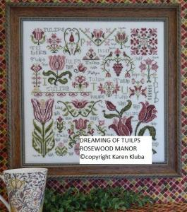 Dreaming of Tulips Cross Stitch Pattern from Rosewood Manor