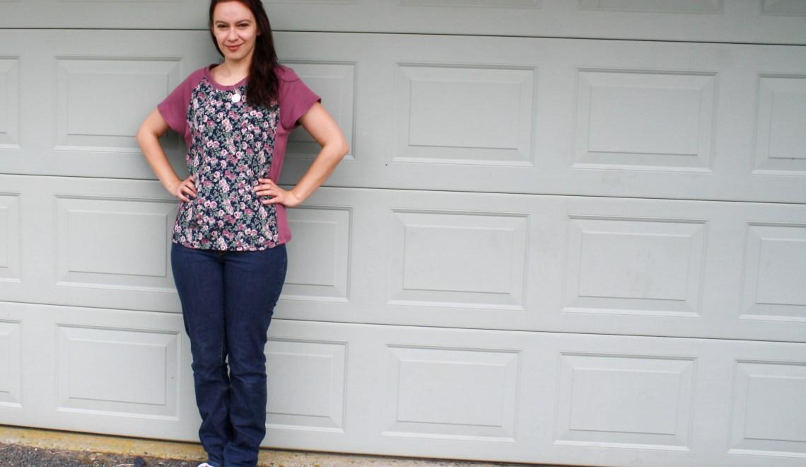 A Garment A Week - Week 38 - Raglan sleeve Tshirt with silky chiffon front and back - stitchremedy.com