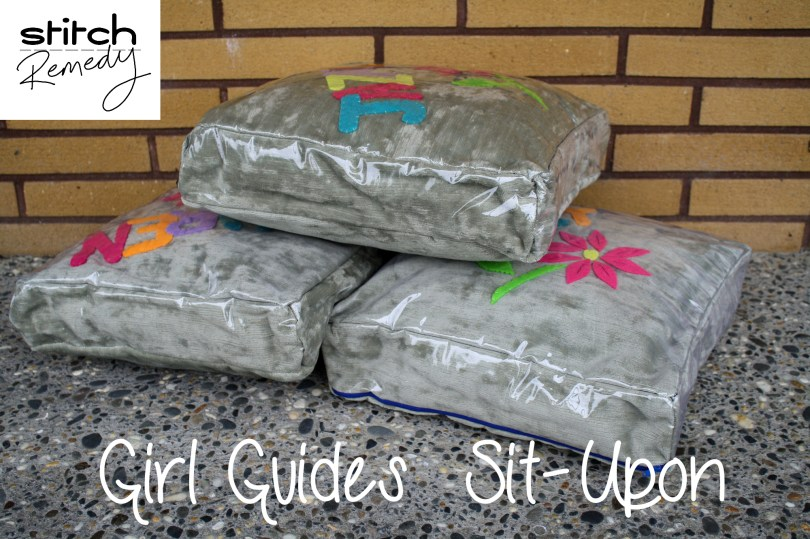Girl Guides Sit-upon cushion for camp or jamboree - stitchremedy.com