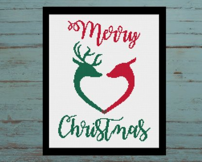 Christmas-Love-Cross-Stitch-Pattern