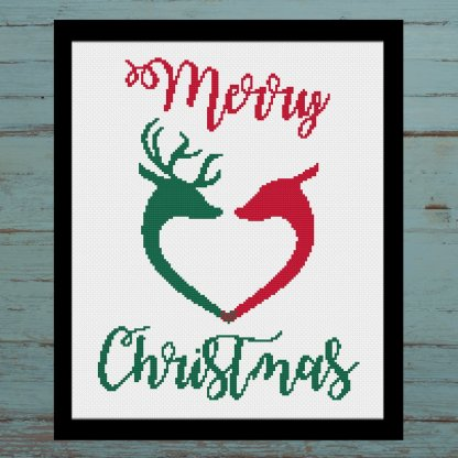 Christmas-Love-Cross-Stitch-Pattern-Inst