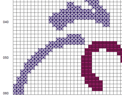 Color Cross Stitch Pattern Image