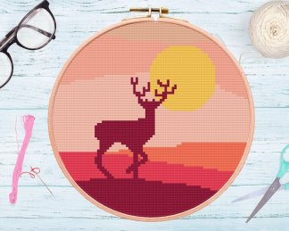 Deer PDF Cross Stitch Pattern