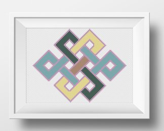 Endless Knot free cross stitch pattern