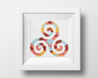 Karma Symbol Free Cross Stitch Patttern