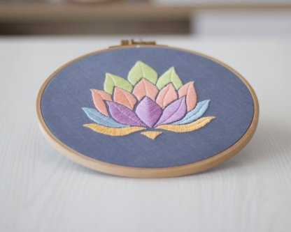 Lotus Flower Mandala Embroidery Pattern