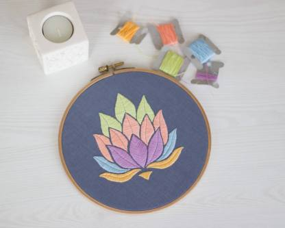 Lotus Flower PDF Embroidery Pattern