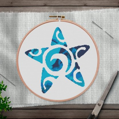 Starfish-inst-modern cross stitch pattern
