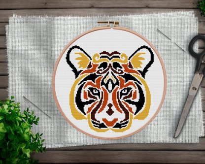 Tiger Mandala Cross Stitch PAttern