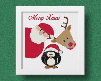 Xmas free christmas cross stitch pattern