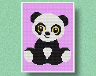 panda free cross stitch pattern