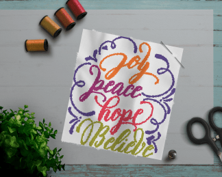 peacehope-cross stitch pattern