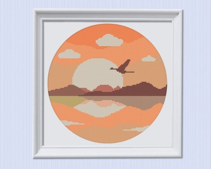 sunsetbird-modern-cross-stitch-template