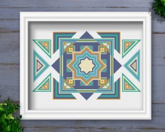Tribal-Geometric-Cross-Stitch-Pattern