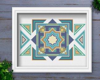 Tribal-Geometric-Cross-Stitch-Pattern