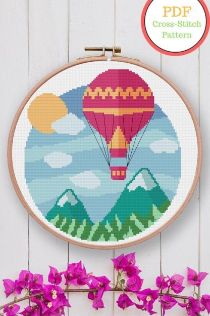 baloon-ride-modern-cross-stitch-pattern