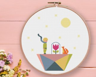 little-prince-cross-stitch-pattern