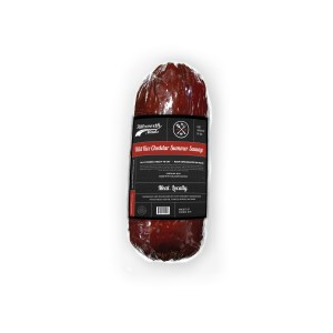 Wild Rice Cheddar Summer Sausage 16oz