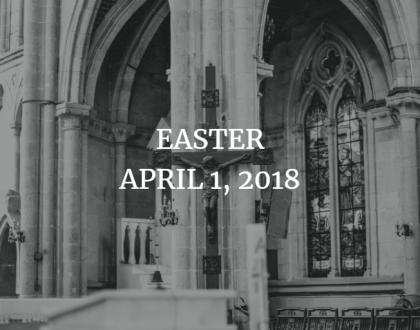Homily for Easter, April 1, 2018 - the Rev. Stephanie Shepard