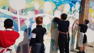 Chillout Zone mural painting (1)