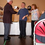 David presents a gift from the parishioners