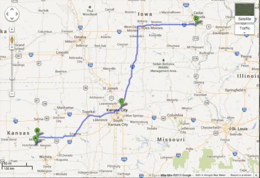 July 6th, Buhler to Iowa City