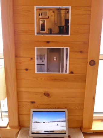 """Open Studio - space 4, photographs from """"pictures from home"""" series and new """"bird feeder"""" film"""