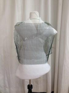 Back View, mesh armature