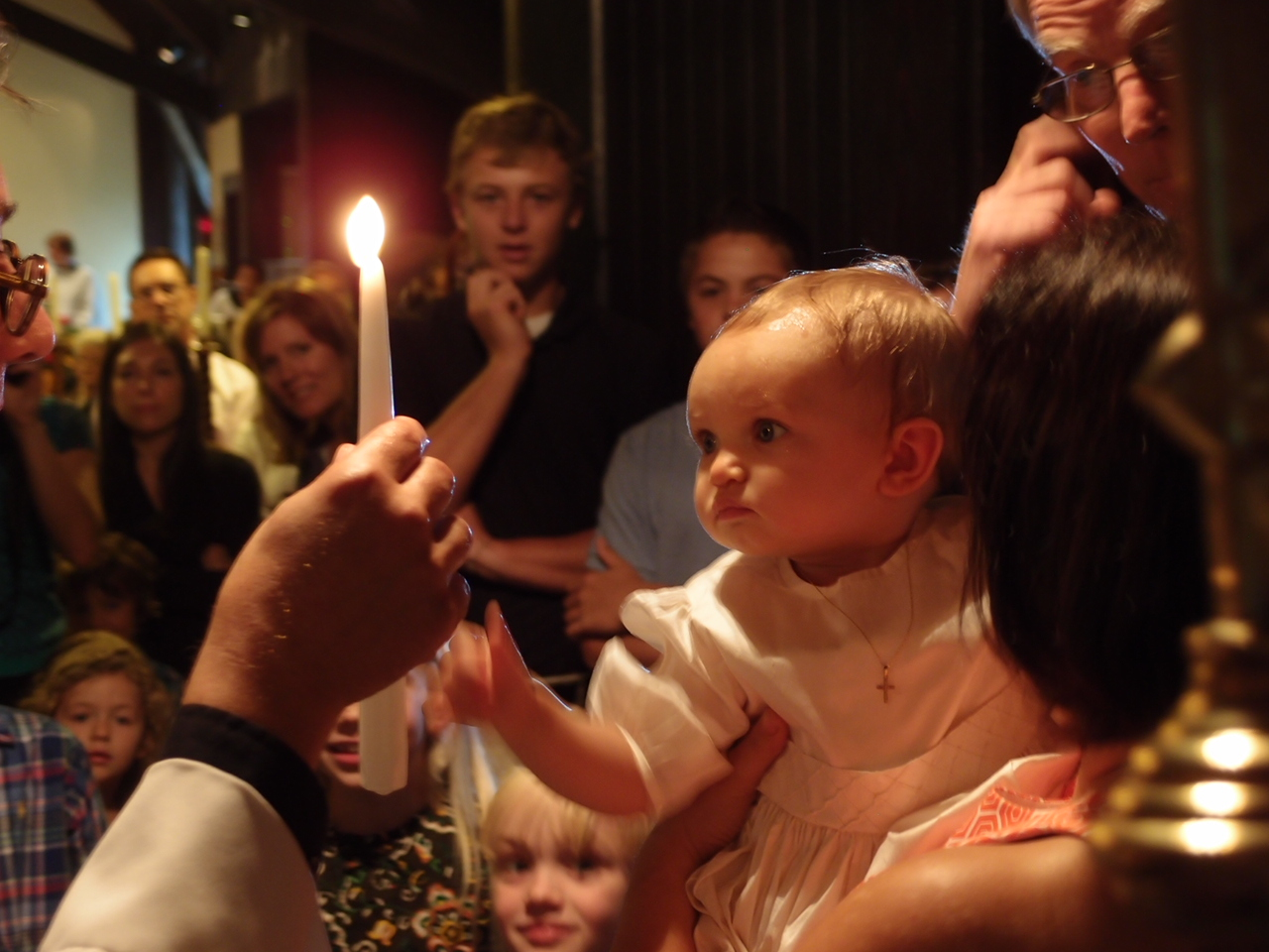 Image result for child smiling being baptized