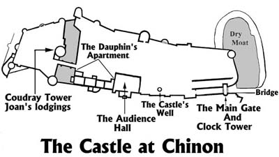 Diagram showing the layout of the castle. [copyrighted VLF]